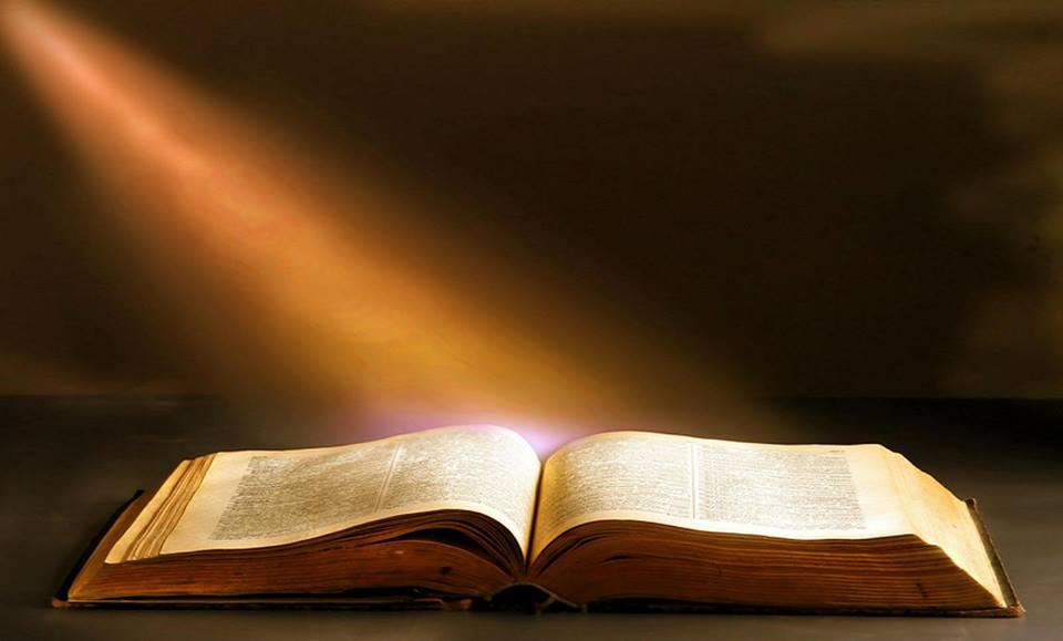 Bibel oppslått