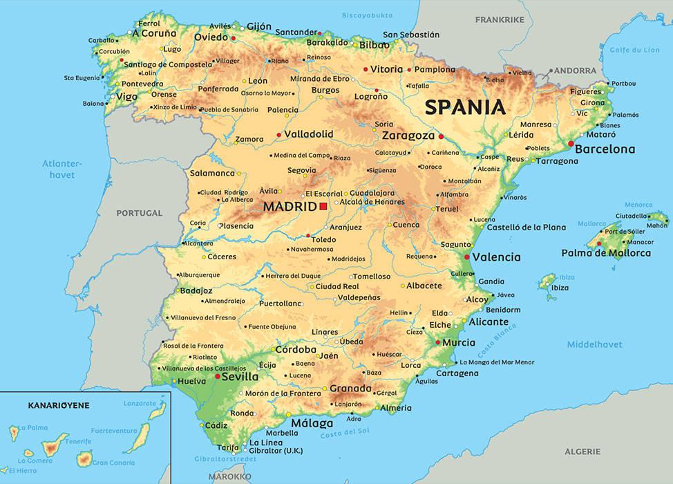 kart over sør spania Kristendommens historie i Spania – Sarepta kart over sør spania