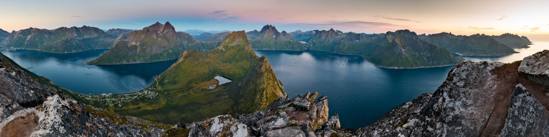View from Beautiful Segla Mountain, Senja, Norway