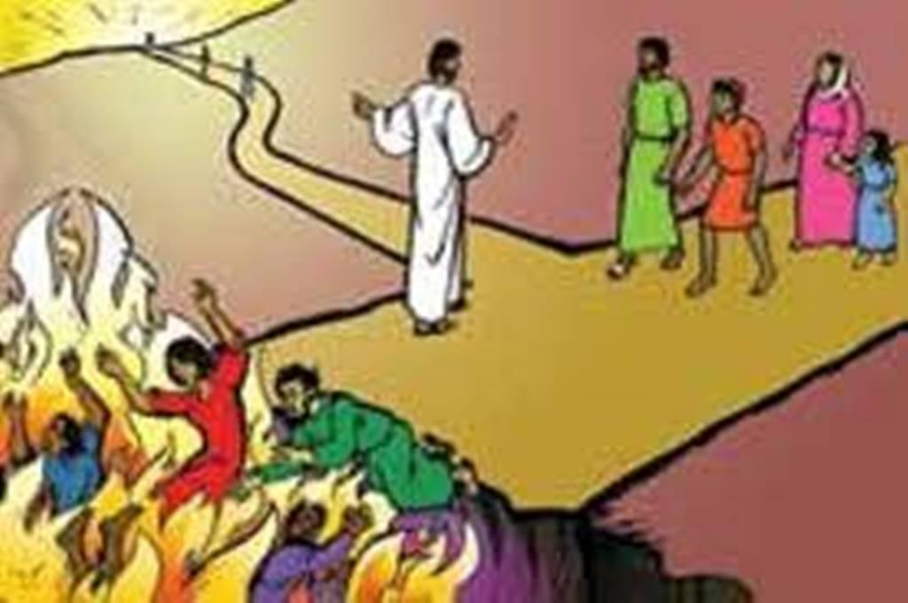 Jesus peker på veien som han er