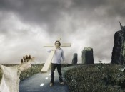 Man Holding Cross is Following Jesus-Follow Jesus Christian Concept