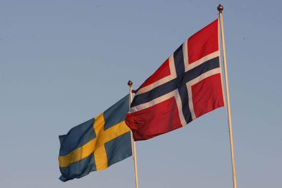 Flagg Norsk og svensk