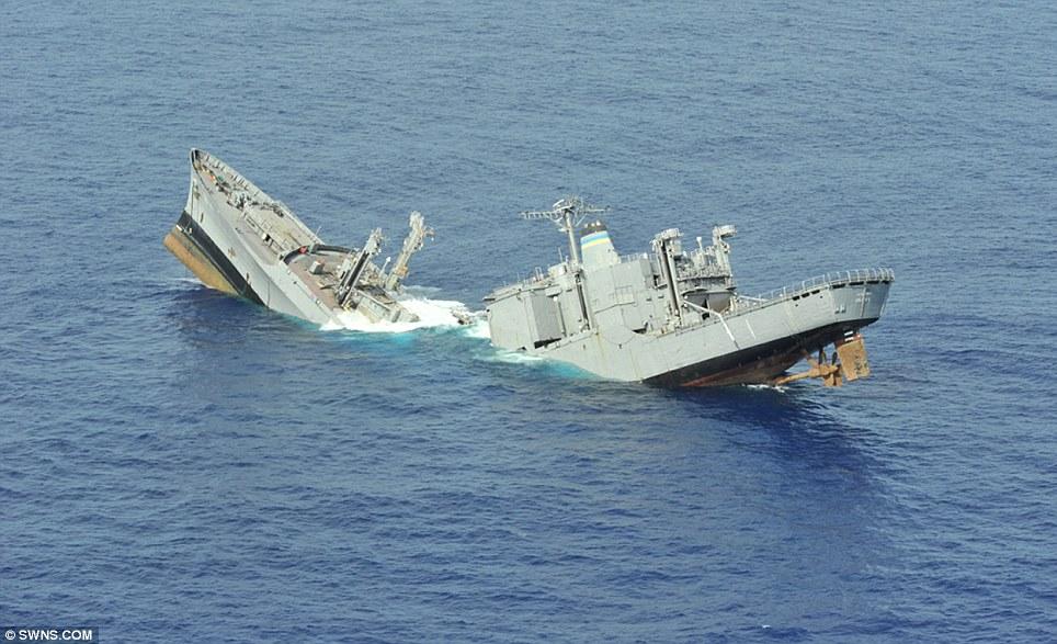 Resultatet av at en torpedo som har fullført oppdraget